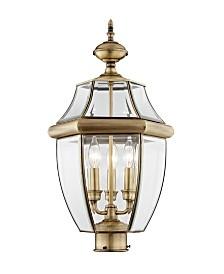 Livex Monterey 3-Light Outdoor Classic Color Post Lantern