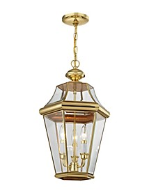 CLOSEOUT!   Georgetown 3-Light Outdoor Chain Lantern