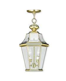 CLOSEOUT! Livex   Georgetown 2-Light Outdoor Chain Lantern