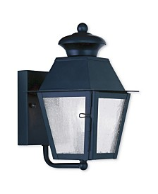 Livex Mansfield 1-Light Small Outdoor Wall Lantern