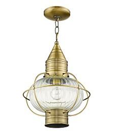 CLOSEOUT! Livex   Newburyport 1-Light Chain Lantern