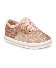 Keds Baby Girls Keds x Kate Spade Champion Glitter Crib Sneaker
