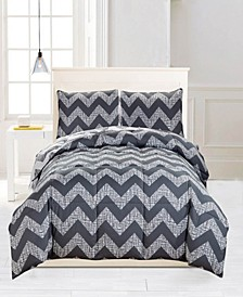Wyatt Reversible 3-Pc. King Comforter Set