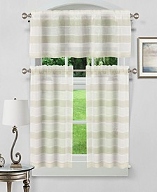 Dakota 3-Piece Kitchen Curtain Set