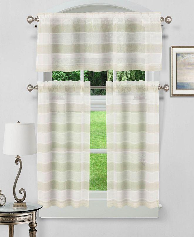 Duck River Textile Dakota 3-Piece Kitchen Curtain Set