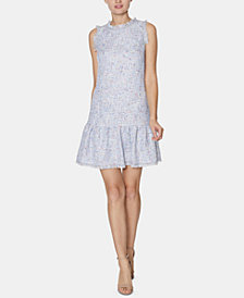 Laundry by Shelli Segal Tweed Shift Dress