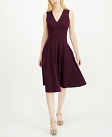 Calvin Klein Fit & Flare Midi Dress