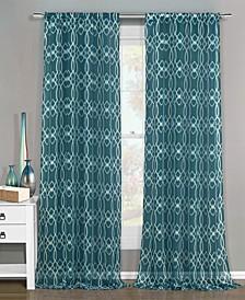 "Newbella 51"" x 84"" Geometric Print Curtain Set"
