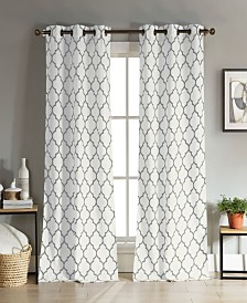 "Mason 38"" x 112"" Trellis Print Curtain Set"