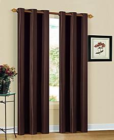 """Herringbone 30"""" x 84"""" Printed Curtain Set"""