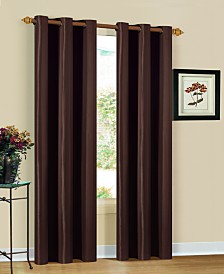 "Herringbone 30"" x 84"" Printed Curtain Set"