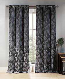 "Sansa 38"" x 84"" Floral Curtain Set"
