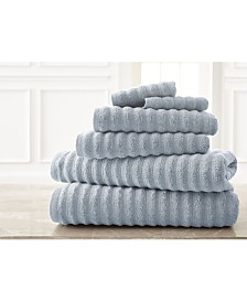 Wavy Luxury Spa Collection 6 Piece Quick Dry Towel Set Spa