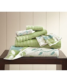 6-Piece Yarn Dyed Towel Set Organic Vines