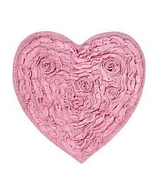 Bellflower Bath Rug Heart Shapedrug