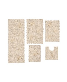 Bellflower Bath Rug 5 Pc
