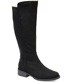 Journee Collection Women's Comfort Blakely Wide Calf Boot