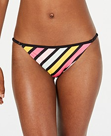 Juniors' Striped Bikini Bottoms