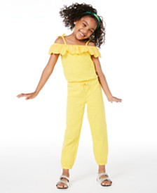 Epic Threads Little Girls Embroidered Jumpsuit, Created for Macy's