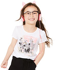 Little Girls Zebra-Print T-Shirt, Created for Macy's