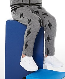 Epic Threads Little Boys Lightning Bolt Fleece Sweatpants, Created for Macy's
