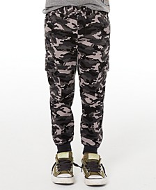 Little Boys Stretch Camouflage Twill Cargo Joggers, Created for Macy's