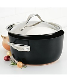 Anolon Nouvelle Copper Luxe Onyx Hard-Anodized Nonstick 5-Qt. Dutch Oven