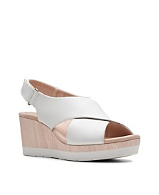 Clarks Collection Women's Cammy Pearl Wedge Sandals