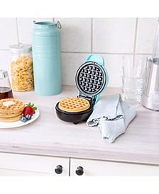 Mini Waffle Maker, Teal