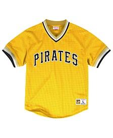 Mitchell & Ness Men's Pittsburgh Pirates Mesh V-Neck Jersey
