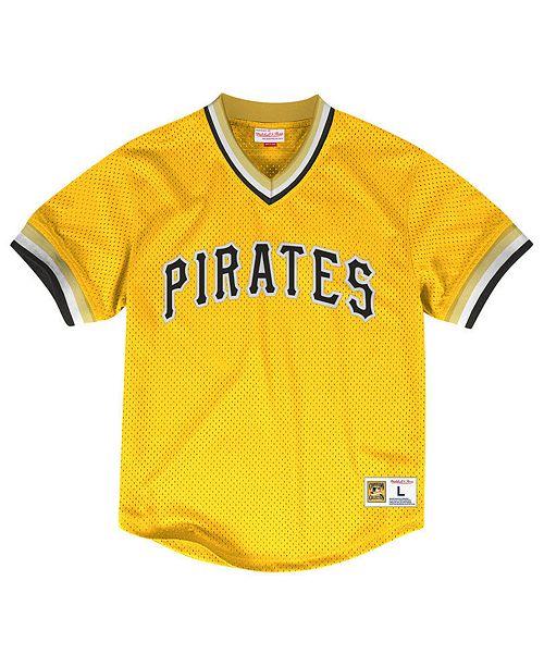 Mitchell & Ness Men's Pittsburgh Pirates Mesh V-Neck Jersey