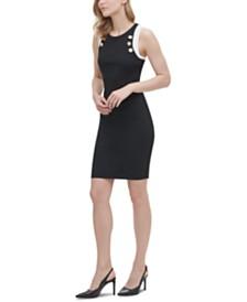 Calvin Klein Buttoned Scuba Dress