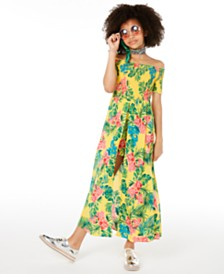 Epic Threads Big Girls Floral-Print Walkthrough Romper Dress, Created for Macy's
