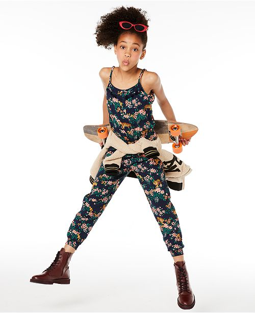 Epic Threads Big Girls Tiger-Print Jumpsuit, Created for Macy's