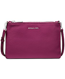 Pebble Leather Double Pouch Crossbody