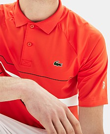 Lacoste Men's Novak Djokovic Ultra Dry Geo Graphic Print Polo