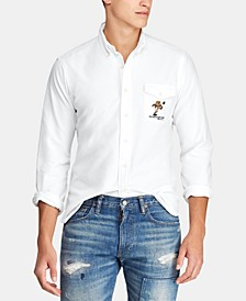 Men's Classic Fit Rugby Bear Oxford Shirt
