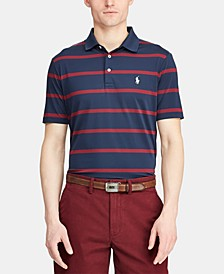 Men's Classic Fit Striped Performance Polo