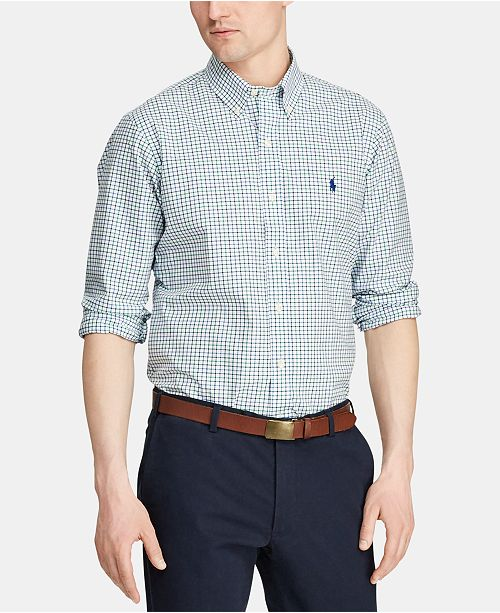 Polo Ralph Lauren Men's Big & Tall Classic Fit Plaid Cotton Shirt