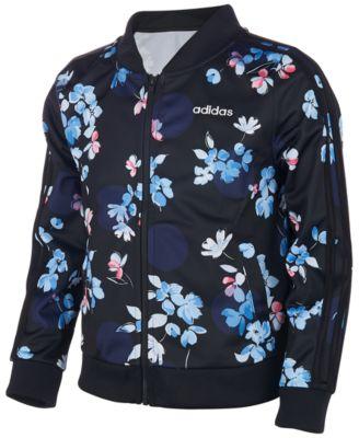 Little Girls Floral-Print Jacket