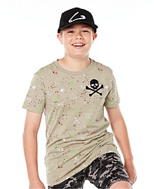 Big Boys Skull Splatter T-Shirt, Created for Macy's