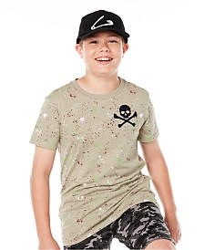 Epic Threads Big Boys Skull Splatter T-Shirt, Created for Macy's