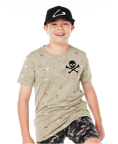 Epic Threads Big Boys Skull Splatter T-Shirt, Created for Macy's