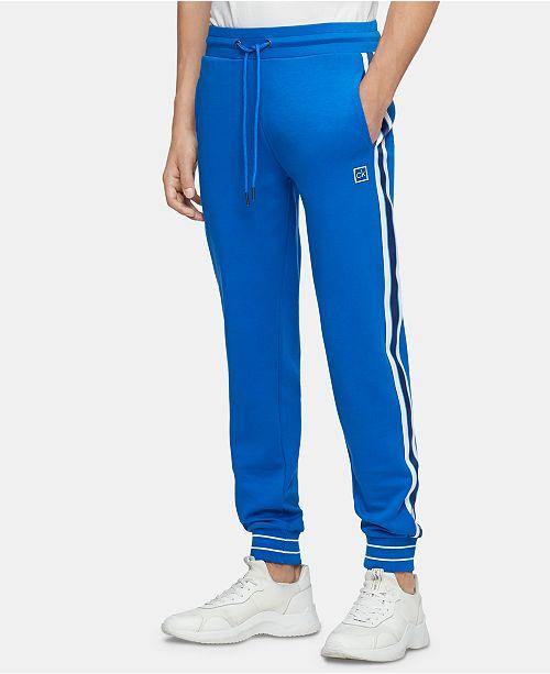 Calvin Klein Men's Regular-Fit Taped Side-Stripe Joggers