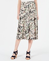 4eb42c8fc JM Collection Petite Printed A-Line Skirt, Created for Macy's