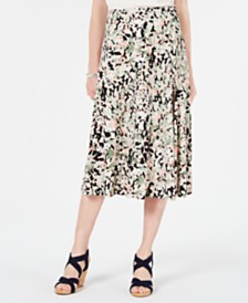 JM Collection Printed Jacquard Skirt, Created for Macy's