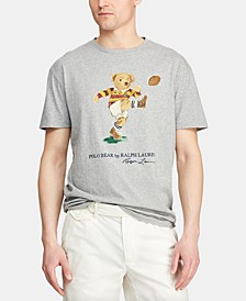 Men's Big & Tall Classic Fit Rugby Bear Cotton T-Shirt