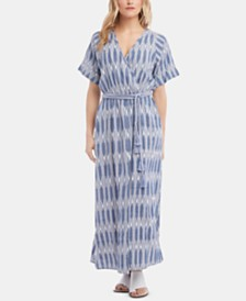 Karen Kane Cuffed-Sleeve Maxi Dress