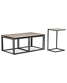 Monterey Rectangular Tables, 2 Piece Set (Coffee Table and Accent Table)