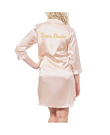 Cathy's Concepts Team Bride Blush Satin Night Shirt